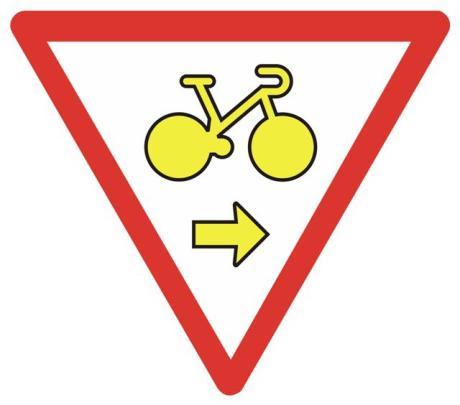 nouveau panneau tourne droite pour les cyclistes v lo route cyclisme cyclosport courses. Black Bedroom Furniture Sets. Home Design Ideas