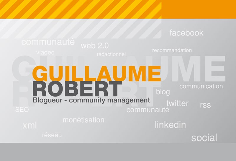 Carte Visite Guillaume Robert Community Manager Toulouse