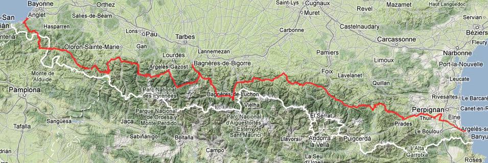 carte traversée des pyrénées à vélo Strava Multiple Ride mapper   Vélo route   Cyclisme, cyclosport